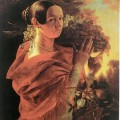 ИХруцкий Портрет молодой женщины с корзиной 1835г