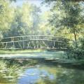 """Луговик В. """"Мост на реке Каширка"""" х\м, 50х70, 2007г"""