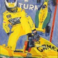 """Илья Петров """"Формула-1"""" х.м, 80х60, 1994г"""