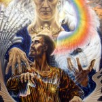 """Александр Рекуненко """"Вдохновение. Оживление Отцом нашим небесным Сына  Божия. Не моя воля, но Твоя да будет"""", холст\масло, 2009г"""