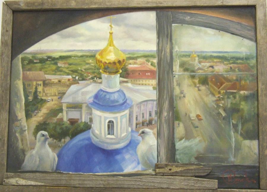 """Старостин И """"Вид с колокольни Введенской церкви"""""""