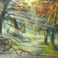 "Маковская А ""Туман в лесу"" х.м, 60х80"