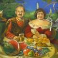 """Маковская А """"Чаепитие в Кашире"""" х.м, 60х80"""
