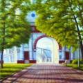 """""""Коломенское. Передние ворота"""", хкм, 50х40, 2011г"""
