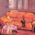 В комнате с кошкой, 80х60, холст,акрил, 2012г