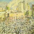 """Ягужинская А.В. """"Вид из окна"""" орг\м, 74х40,2011г"""