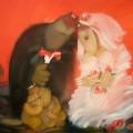 "Хлебников Валерий ""Свадьба"", хм, 60х80, 2011г"