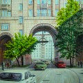"""""""На Песчаной улице"""", хкм, 50х40, 2010г"""