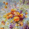 """""""Полевые цветы"""", бум.акварель, 76х56, 2013"""
