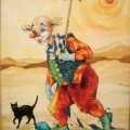 "Куклачёва Екатерина ""Клоун в пустыне"", х\м, 70х50, 1999г"
