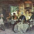 А.Д.Кившенко Военный совет в Филях в 1812 году