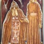 """Старец и послушник"" 210х140, 2001г"