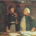 В.П.Фельдман(1924-1961) М.И.Кутузов и А.С.Фигнер, 1958г