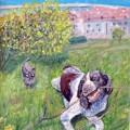 """Л.Бачерикова """"Утренний пассаж"""" х.акрил, 60х40,2013г"""