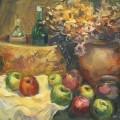 """""""Натюрморт с яблоками"""", х/м, 40х60"""