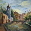 """""""Московские улицы"""", бум/гуашь, 40х60"""