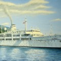 """""""Белый пароход"""", хм, 50х80, 2004г"""