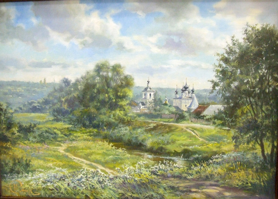 """Старостин И """"Подмосковные дали"""" х.м, 50х70"""