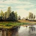 Деревня у реки, 2015г