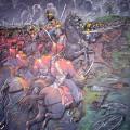 Наступление русской армии. Холст.масло, 2012г, 80х100