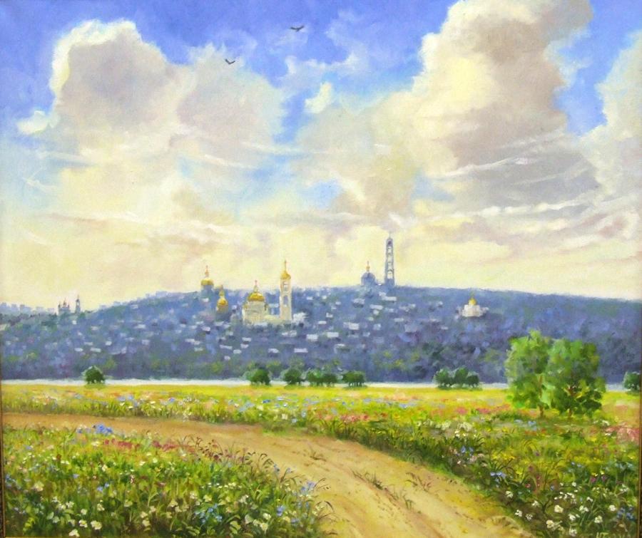 "Баютов Ю ""Кашира-православный город"" х.м, 60х70"