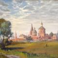 """""""Бобренёв монастырь"""" х.м, 60х80, 1992"""