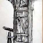 Дверь сарая