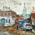 "Михаил Поляков ""Остановка у магазина"" х.м. 40х50 2012"