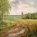 """Исаева Е """"После дождя"""", х\м, 50х60, 2013"""