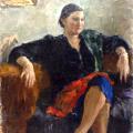 Л.Ф.Дубовик, 1939г., Портрет., х.м.