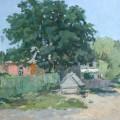 Н.С.Сергеев, 1965г. Пейзаж с дубом,60х80,орг.м.