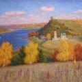 Осень на Оке, х/м, 80х125, 2005г