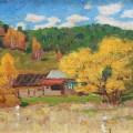 Осень в Медынцеве, к/м, 18х23, 1968г
