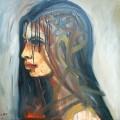 Портрет девушки, 80х60, холст, акрил, 2012г