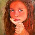 Портрет ребенка.Вика, х.м, 50х50