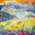 """Салькова Н """"Крылатские холмы"""" х\м, 80х70, 1986"""