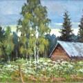 """Соболев В """"Перед дождём"""" х\м, 40х60, 1998"""