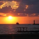 Сочи, закат на Черном море