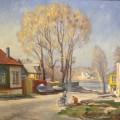 """""""Тёплый апрель"""" х.м, 66х76, 2003"""