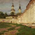 У кремлёвской стены. Владимир, к/м, 18х24, 1976г