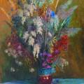 Увядшие цветы, х/м, 90х80, 2001г