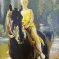 Юная всадница, 2000г, орг.м, 70х50