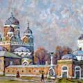 """Леонов В.М. """"Свидетели прошлого. Бородино"""" 50х70, орг.м, 2012"""