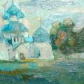 """Левшин М.В. """"Куликово поле"""" 25х60, х.м, 2012"""