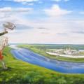 "Савенкова С.В. ""Соколиная охота"" 60х110 х.м. 2012"