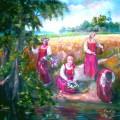"Сидорова Е.А. ""На Ивана Купалу"" 100х150 х.м 2012"